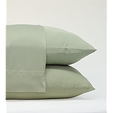 Cariloha Classic Bamboo Pillow Cases by 2 Piece Pillowcase Set - Softest Pillow Cases - 100% Viscose from Bamboo (King, Sage)