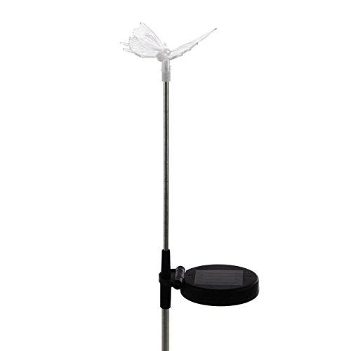 Nexos lámpara solar mariposa LED cambio de color 80cm Jardín Iluminación Decoración solar lámpara solar Conector plástico acero inoxidable 3colores