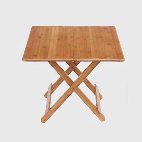 WTT bureau, inklapbaar, eettafel, eenvoudige tafel, inklapbaar, vierkant, eettafel, inklapbaar, klein, woningtafel, draagbaar, bruin (afmetingen: 60 cm x 50 cm)