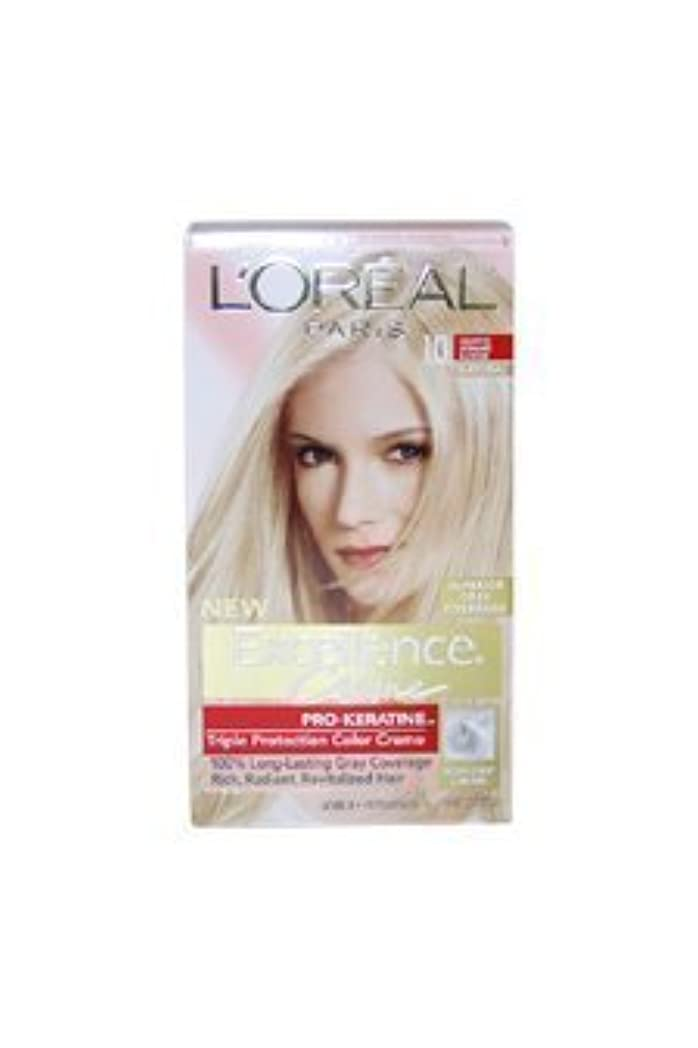 変化する継続中心理学Excellence Creme Pro - Keratine 10 Light Ultimate Blonde - Natural by L'Oreal - 1 Application Hair Color by L'Oreal Paris [並行輸入品]
