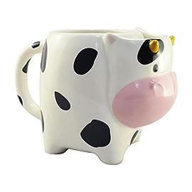 Amazon Brand – Umi Cow Shape Coffee Mug Ceramic Tea Cup with Handle, 480ml