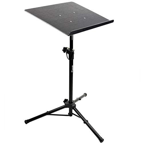 RockJam Soporte para proyector y para computadora portátil o escritorio de pie temporal con cuerpo de trípode y placa con textura
