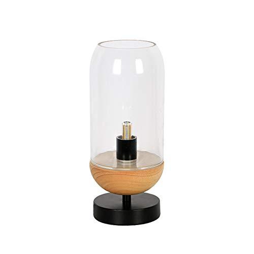 LightJH Tafellamp LED bureaulamp, behoedzame tafellampen, lampenkap van glas, smeedijzeren fitting, lamphouder E14, creatieve engelslaapkamerlamp