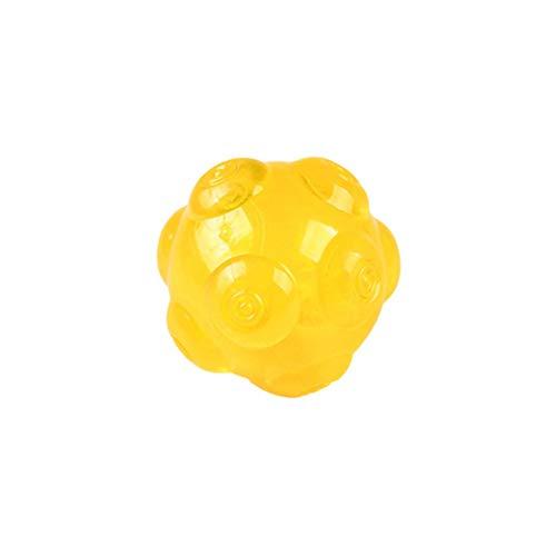 WDMM Bola Masticable Indestructible para Perros, Pequeño, Mediano, Grande, No Tóxico, Chirriante, Ritmo Irregular, Juguetes para Mascotas, Juego De Limpieza De Dientes (Color : Orange)