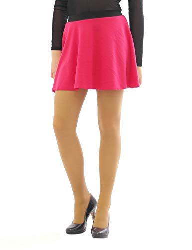 Swing Rock Mini hohe Taille Falten-Rock Gummibund Skirt Minirock pink S/M