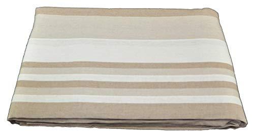 CASA TESSILE Kiara Couvre-lit rayé Sofa Towel Furniture cm 260x260 - Beige