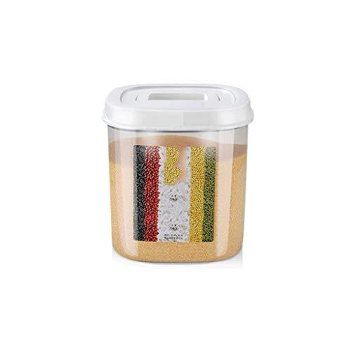 XWOZYID 10KG grande arroz de la cocina Caja de almacenamiento de grano envase de plástico Cajas de harina de arroz a prueba de polvo organizador de la cocina (Size : 21cm)