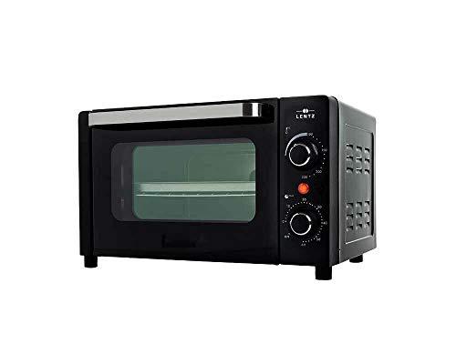 Posten Anker Premium Minibackofen schwarz | 12 Liter Volumen | 1050 Watt | Miniofen | Kleiner Tisch Ofen für Camping Wohnmobil | Grill Funktion | Pizzaofen | mini oven outdoor | elektrisch