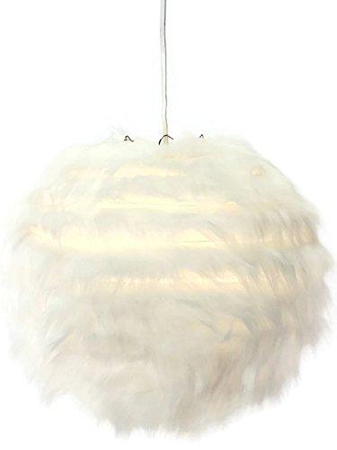 Bada Bing Hochwertige Lampe Lampion Felloptik Hängeleuchte Ca. Ø 30 cm Deckenleuchte Plüsch Ball 03