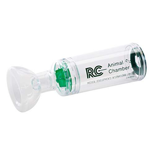 RC - Animal Chamber Katze Inhalierhilfe, ermöglicht Katzen Inhalation von Medikamenten, Hilfe bei chronischen Erkrankung der Atemwege und Bronchien bei Katzen, Inhalator Katze