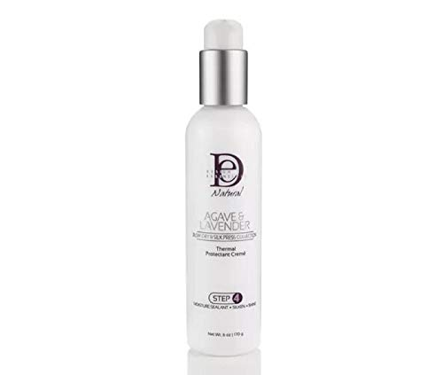 Design Essentials Natural Agave & Blow Dry & Silk Press Collection Thermal Protectant Creme Lavender 4 Ounce