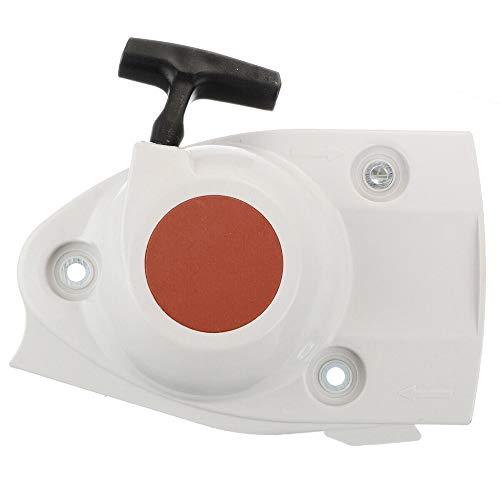 RYUNQ Arrancador de retroceso con cable de tracción extra para STIHL TS410 TS410Z TS420 TS420Z TS480i TS510i Sierra de corte de hormigón Tirador de cuerda
