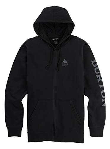 Burton Elite Full-Zip Hoodie Mens Sz L True Black