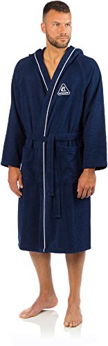Cressi Swim Bathrobe Sport Bademantel, Blau, XL