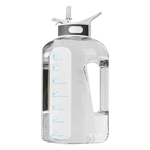 ABCDJHH Vaso deportivo de gran capacidad reutilizable, portátil con tapa de salto, tapa de plástico y pajitas para el gimnasio en casa, a prueba de fugas