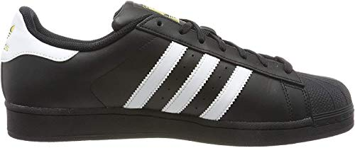 adidas Originals Superstar Foundation B27140, Herren Low-Top Sneaker, Schwarz (Core Black/Ftwr White/Core Black), EU 39 1/3