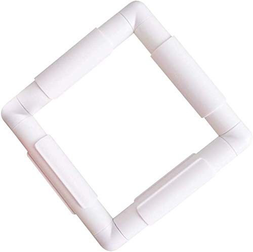 Embroidery Clip Frame,Square Plastic Sewing Hoop Tools Handhold Cross Stitch DIY Craft Sewing Tools, Cross Stitch Hoop Stand Lap for Embroidery, Quilting, Needlepoint, Silk-Painting (17')