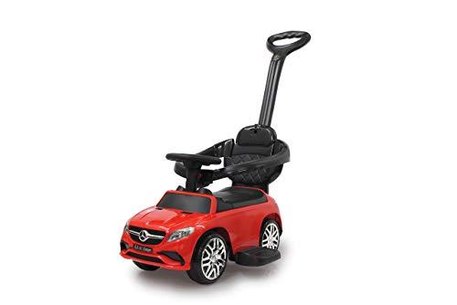 Jamara 460451-Correpasillo Mercedes-AMG GLE 63 3en1 – Antivuelco, Asiento en Piel sintética, Sonidos, Luces, Protección Lateral, Soporte con función de dirección, Color Rojo (460451)