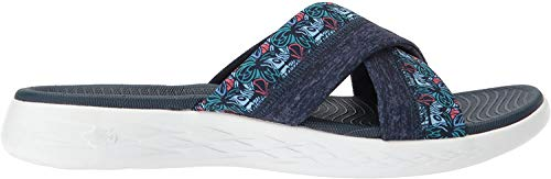 Skechers On The Go 600-Monarch, Sandalias de Plataforma para Mujer, Azul (Navy), 37 EU