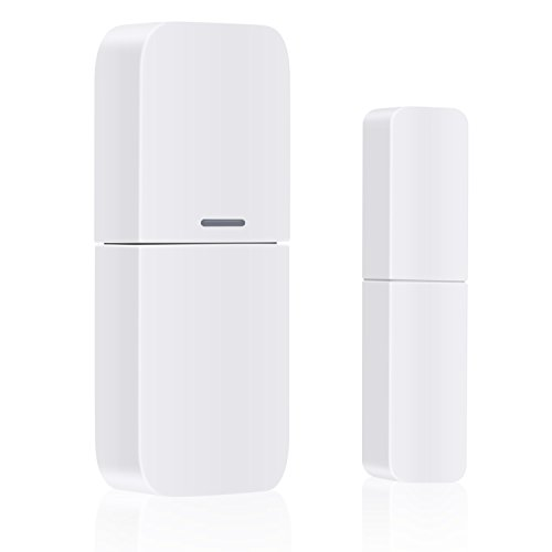 Wireless Windows Doors Sensor, Work with Any 433MHz Home Security Alarm System for Home and Business (2 Pack)