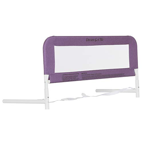 Dream On Me, 3D Linen Fabric and Mesh Security Bed Rail, Purple