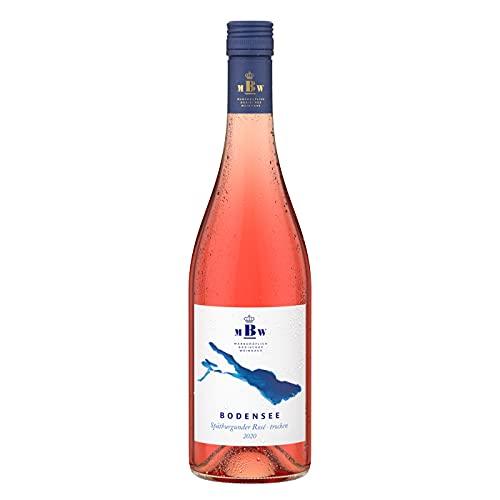 Bodensee Spätburgunder Rosé trocken – Deutscher Rosé Wein vom Weingut Markgraf von Baden am Bodensee (1 x 0,75l)