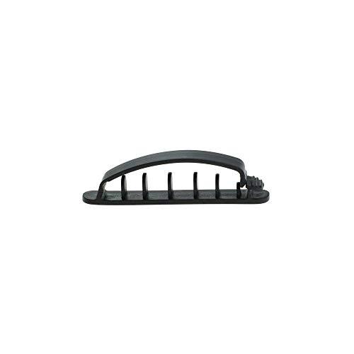 Kabelhalter Schreibtisch 3 Stück Kabelclips Kabelmanagement Cable Kabelmanager für Auto Schreibtisch Handy Kabel (schwarz) von Weiss - More Power +
