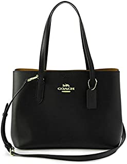 Coach Women's Carryall Satchel Bag, Leather - Black