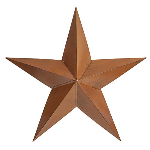 """Besti Rustic Barn Star Outdoor Decoration (36"""") Large, 3D Metal Farmhouse Decor 