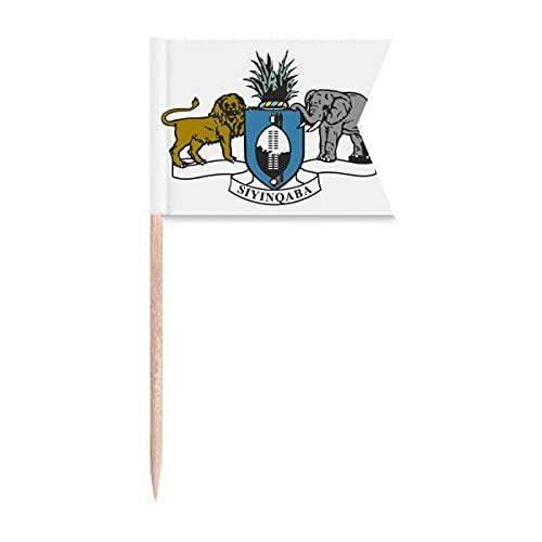 Swasiland Afrika Nationalemblem Zahnstocher Flaggen Kennzeichnung für Party Kuchen Lebensmittel Käseplatte