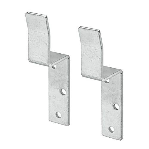 VORMANN Zaunriegelhalter Torsicherung Torverschluss Winkel, 2 Stück, verzinkt, Made in Germany
