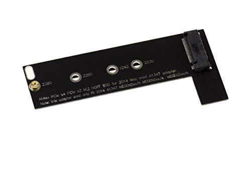 KALEA-INFORMATIQUE - Adaptador M2 Type PCIe (B+M o M Key) a Mac Mini 2014 A1347 - A 1347 MEGEN2XX/A MEGEM2XX/A MEGEQ2XX/A