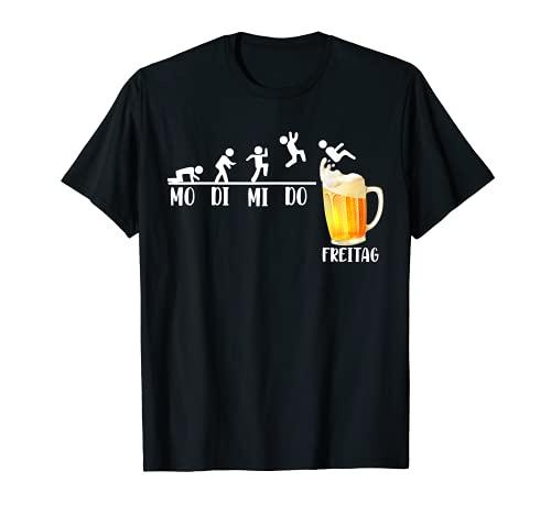 Bier Woche Endlich Freitag Biertrinker Bierliebhaber T-Shirt