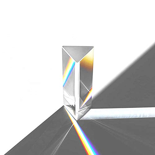 LYOU Prism,Photography Prism,150 mm K9 Optical Glass Made Triangular Prisms for Physics Teaching and Photography, Photo Photography Prism Refracted Light Spectrum Rainbow