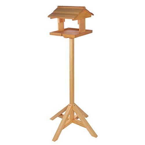 Garten und Holztrends Vogelhaus Vogelhäuser (V63) Vogelfutterhaus Vogelhäuschen-aus Holz-DHL-Schreinerarbeit Ständer Vogelhausständer