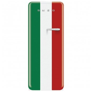 "Smeg FAB28UITL1 24"" Freestanding All Refrigerator with 9.22 cu.ft. Capacity, in Italian Flag Color"