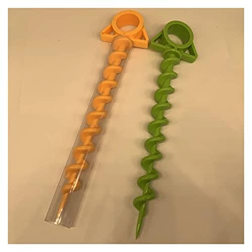 XIAOSHI Tornillo Tienda de campaña Tornillo de plástico Shofar Anclajes de Tierra Tornillo m8 (Color : Green)