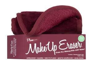 The Original Make-up-Radiergummi, chemikalienfrei, Reinigungstuch, entfernt Make-up mit Wasser, Pflaume
