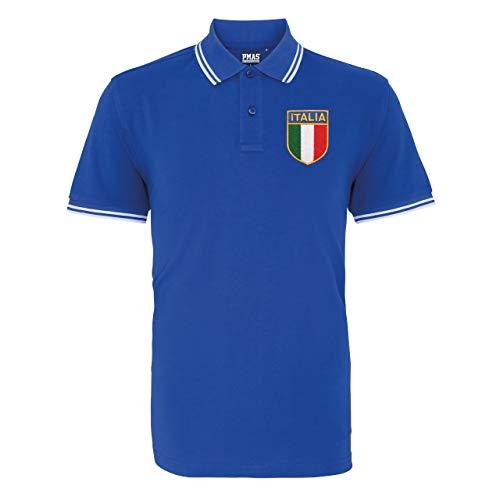 Polo de rugby italien brodé vintage pour homme - - X-Large