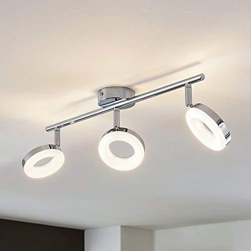 Lampenwelt LED Deckenlampe 'Ringo' (Modern) in Chrom aus Metall u.a. für Wohnzimmer & Esszimmer (3 flammig, A+, inkl. Leuchtmittel) - Deckenleuchte, Wandleuchte, Strahler, Spot, Lampe, Wohnzimmerlampe