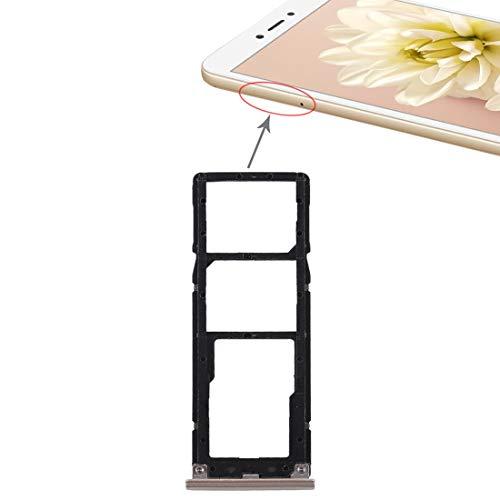 Accesorios ELECTRONICOS MÓVILES CQS 2 Bandeja de Tarjeta SIM + Bandeja de Tarjeta Micro SD para Xiaomi Redmi Note 5A (Gris) (Color : Gold)