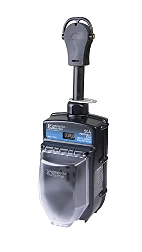Progressive Industries 50 Amp Portable RV Electrical Management System Surge Protector (1 MIN), EMS-PT50X , Black