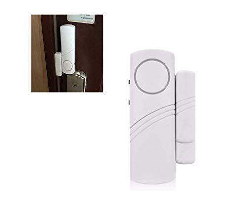 2 unidades de alarma de puerta inalámbrica con sensor abierto de alarma para ventana de puerta, ventana de seguridad para el hogar, garaje, tienda
