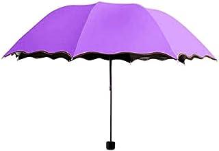 Parasol impermeable a prueba de viento de aluminio soleado lluvioso no automático para hombre y mujer, parasol de verano e...