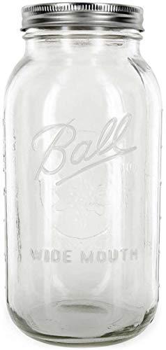 KoRo - Mason Glas 1892 ml - 64 oz Glas optimal zum Aufbewahren spülmaschinenfest und luftdicht