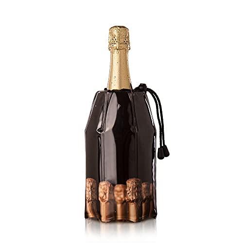 Vacu Vin Aktiv Champagnerkühler Motiv Flaschen Flaschenkühler, Kunststoff, 18x4x4 cm