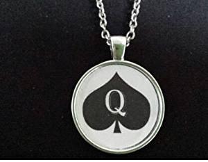 Queen of spades * Halskette Anhänger Schmuck Charm hotwife
