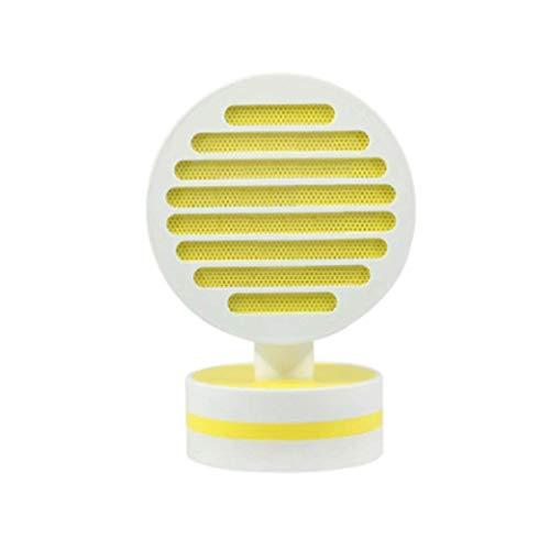 SONGAI Termoventilador Funcionamiento silencioso Ajuste del Calentador del Calentador de Escritorio 500W botón de Control de 2 velocidades 3 Segundos Fast Duradero (Color: Amarillo), Color: Rosa