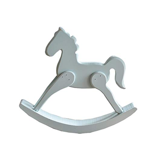 Learn More About Rocking horse ZJING Simple American Creative Wooden Small Children's Room Soft Deco...