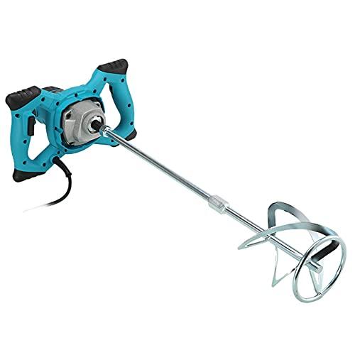 SUNFUSHOU 2600W Industrial Mixer, Mixing Drill 110/220V Plastering Mud Mortar Mixers Waterproof Motor 60cm Stirring Rod Glue Concrete Adhesive Stirring Tool,Blue-110V
